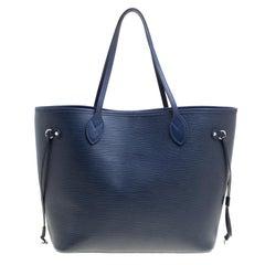 Louis Vuitton Blue Marine Epi Leather Neverfull MM Bag