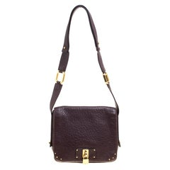 Marc Jacobs Dark Burgundy Leather Crossbody Bag