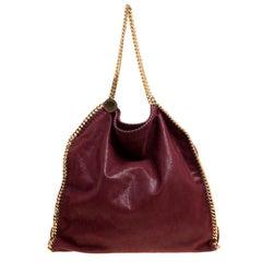 Stella McCartney Burgundy Faux Leather Large Falabella Tote