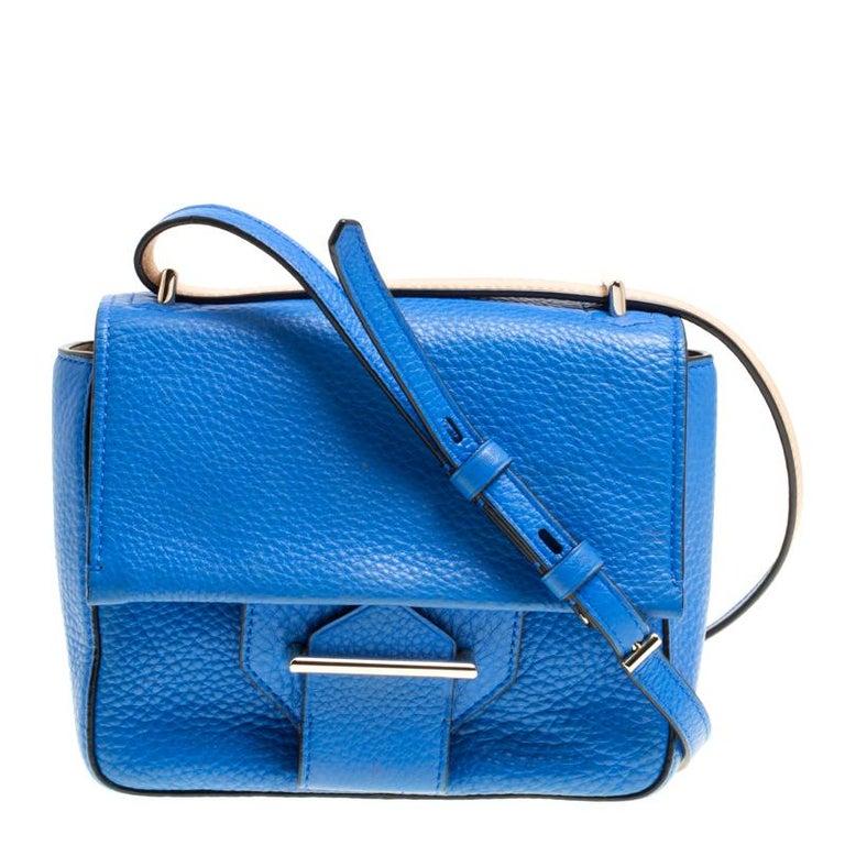 5608098530ec Reed Krakoff Blue Leather Mini Standard Shoulder Bag At 1stdibs