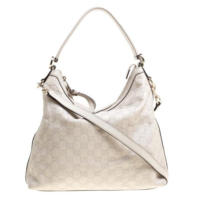 6ce78c324e3 elegant gucci light beige guccissima leather miss gg hobo for sale with  gucci guccissima medium hobo bag white p