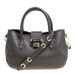 Jimmy Choo Grey Leather Shoulder Bag