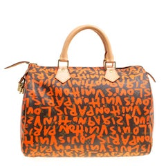 Louis Vuitton Monogram Canvas Neon Orange Graffiti Stephen Sprouse Speedy 30 Bag