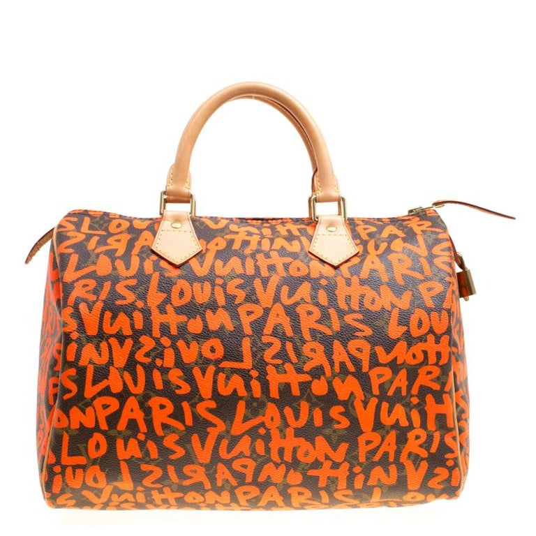 7ade938201139 Louis Vuitton Monogram Canvas Neon Orange Graffiti Stephen Sprouse Speedy  30 Tasche 8