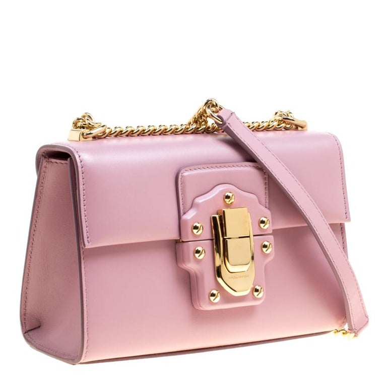0e85a5f13c Dolce and Gabbana Bubble Gum Pink Leather Lucia Shoulder Bag at 1stdibs