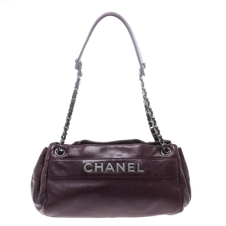 08d4f7db74ce Chanel Purple Leather LAX Accordion Camera Shoulder Bag at 1stdibs