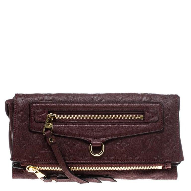 0e73ca605301 Louis Vuitton Aurore Monogram Empreinte Leather Petillante Clutch For Sale