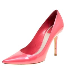 Dior Pink Patent Leather Pointed Toe Pumps Size 38