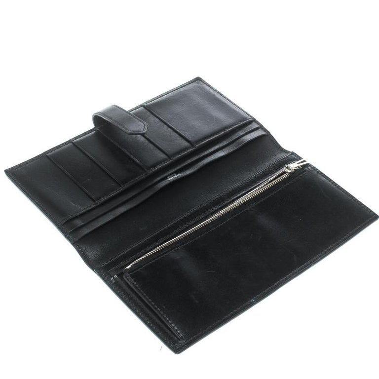 7ab2b85267d6 Hermes Black Box Calf Leather Bearn Gusset Wallet For Sale at 1stdibs
