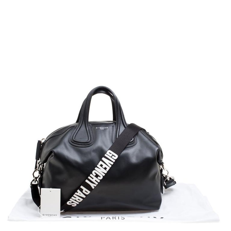 09d6a8f8e7 Givenchy Black Leather Medium Nightingale Satchel at 1stdibs