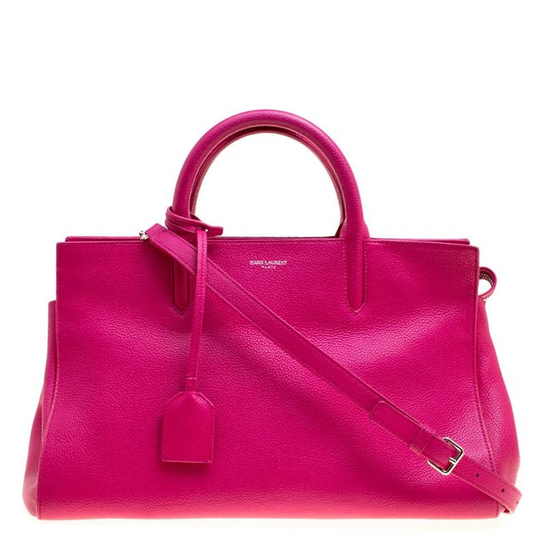Saint Laurent Hot Pink Leather Small Rive Gauche Bag At