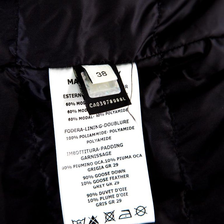 4eb0ac42 Fendi Karlito Black Logo Applique Detail Quilted Down Bomber Jacket S