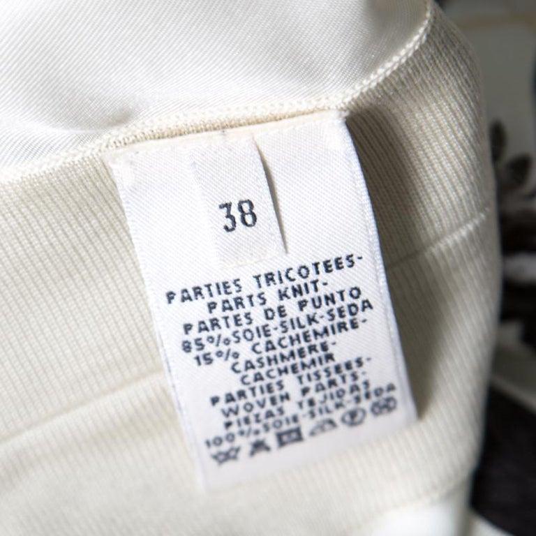 Hermes Cream Jungle Love Print Silk and Cashmere Tunic Dress M In Good Condition For Sale In Dubai, AE