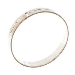 Tiffany & Co. Tiffany Locks Diamond & Silver Bangle Bracelet 18cm
