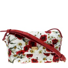 Dolce and Gabbana Multicolor Floral Printed Fabric Brocade Bag