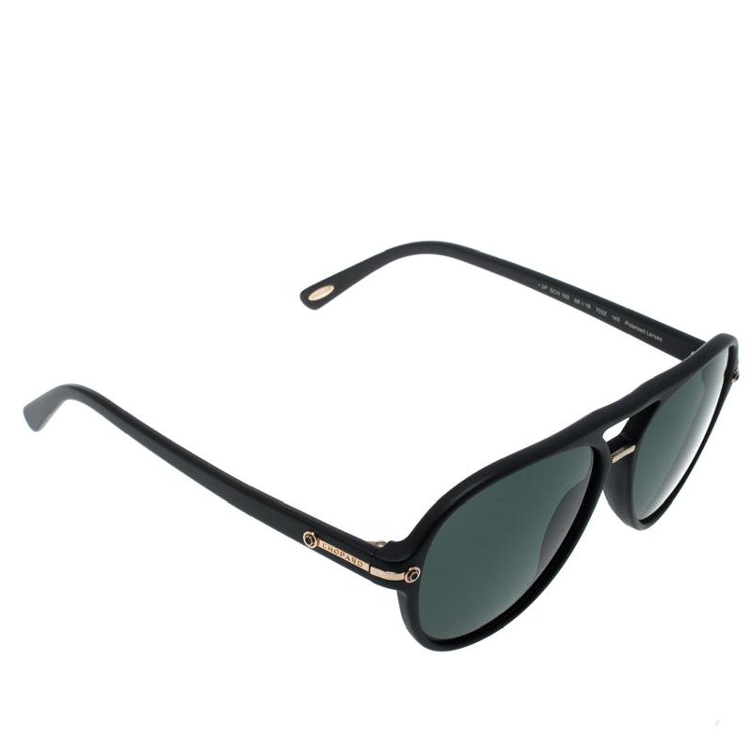 3805bfd838 Chopard Black Polarized SCH193 Aviator Sunglasses For Sale at 1stdibs