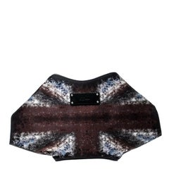 Alexander McQueen Multicolor Satin Medium De Manta Clutch
