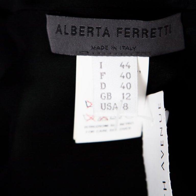 Women's Alberta Ferretti Green Crystal Embellished Waist Detail Sleeveless Dress M For Sale