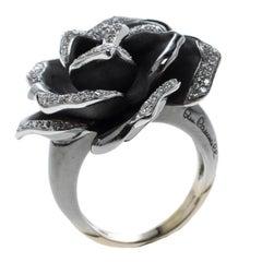 Annamaria Cammilli Black Rose Diamond & Black Rhodium Plated 18k Gold Cocktail R