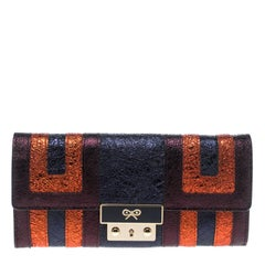 Anya Hindmarch Metallic Multicolor Ceramic Effect Patent Leather Continental Wal
