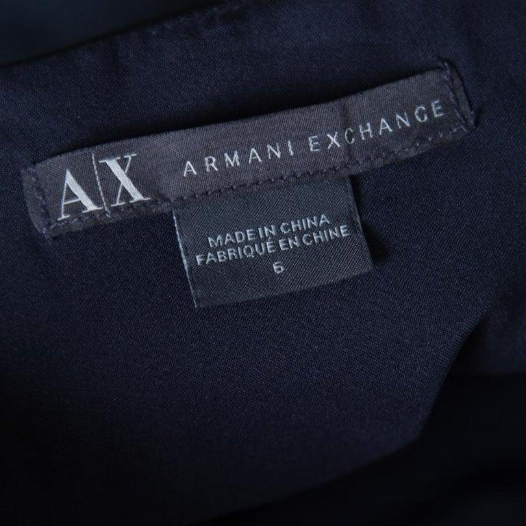 Armani Collezioni Navy Blue Sleeveless Sheath Dress S In Good Condition For Sale In Dubai, Al Qouz 2
