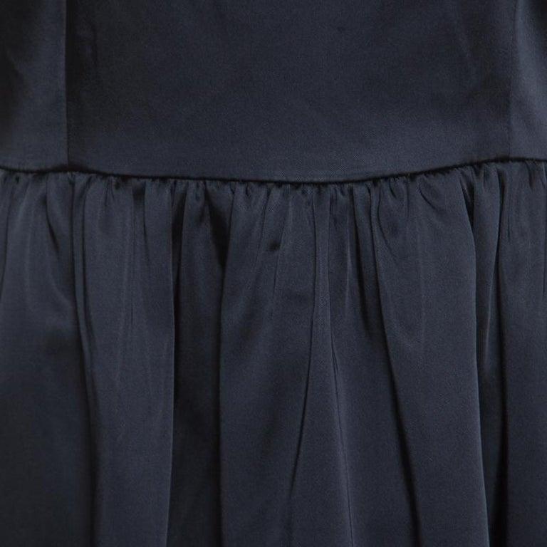 Women's Armani Collezioni Navy Blue Sleeveless Sheath Dress S For Sale