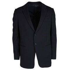 Armani Collezioni Navy Blue Tailored Regular Fit Blazer XXXS