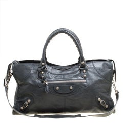 Balenciaga Anthracite Leather RH Part Time Top Handle Bag