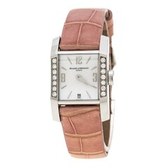 Baume & Mercier White Mother of Pearl Stainless Steel Diamant MOA08667 Women's W