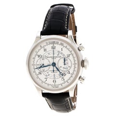 Baume & Mercier White Stainless Steel Capeland Flyback M0A10006 Men's Wristwatch