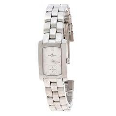 Baume & Mercier White Stainless Steel Hampton Milleis 65309 Women's Wristwatch