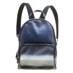 Berluti Gradient Blue/White Polished Leather Time Off Dégradé Backpack