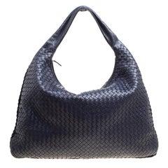 Bottega Veneta Purple Intrecciato Leather Maxi Veneta Hobo
