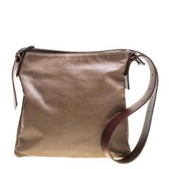 Bottega Veneta Brown Leather Messenger Bag
