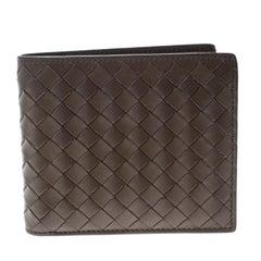 Bottega Veneta Taupe Intrecciato Leather Bifold Wallet