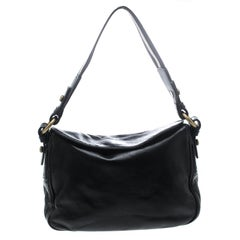 Bally Black Leather Shoulder Bag