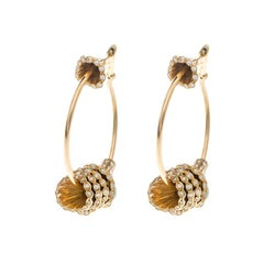 Boucheron Frou Frou Gold and Diamond Hoop Earrings