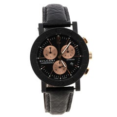 Bvlgari Black Carbongold Athens Chronograph BB38CLCH Limited Edition Women's Wri