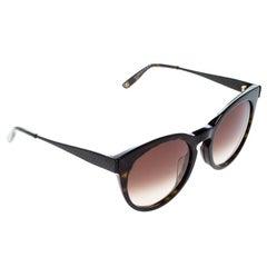 Veneta Havana/Brown Gradient BV253FS Round Sunglasses