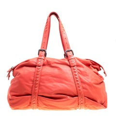 Veneta Magma Plume Leather Duffle Bag