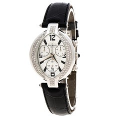 Silver Stainless Steel And Diamond Excessive Chrono 5831 Women's Wristwatch 32 m