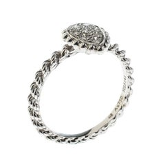 Serpent Boheme 18k White Gold And Diamonds XS Motif Ring