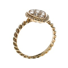 Serpent Boheme 18k Yellow Gold And Diamonds S Motif Ring