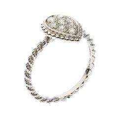 Boucheron Serpent Boheme Diamonds and 18K White Gold S Motif Ring