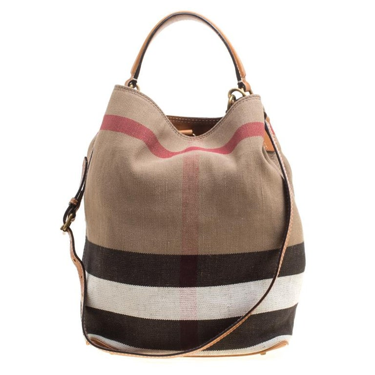 Burberry Multicolor Nova Check Canvas and Leather Ashby Hobo at 1stdibs 0405e0d98e1f1