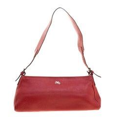 Burberry Red Leather Pochette Shoulder Bag