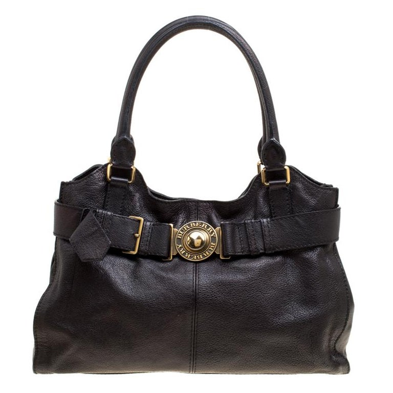 70d95a9f8e1f Burberry Black Leather Lambeth Tote For Sale at 1stdibs