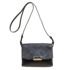 Burberry Black Leather Small Langley Clutch