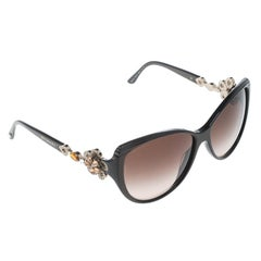 Bvlgari Brown/Brown Gradient 8097-B Limited Edition Crystal Embellished Floral C