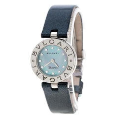 Bvlgari Grey Mother Of Pearl Diamond & Stainless Steel B.Zero1 Women's Wristwatc
